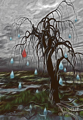 Digital Art - Weeping Tree by Jutta Maria Pusl