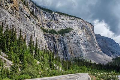 Alberta Photograph - Weeping Wall Banff National Park by Joan Carroll