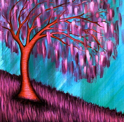 Weeping Willow II Art Print by Brenda Higginson