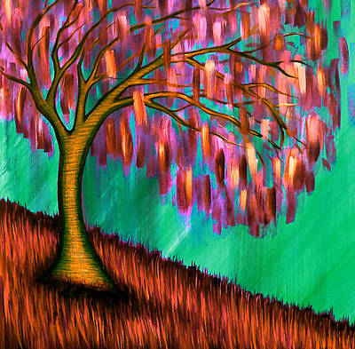 Weeping Willow IIi Art Print by Brenda Higginson