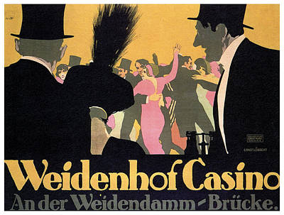 Lucille Ball - Weidenhof casino - Vintage German Advertising Poster by Studio Grafiikka