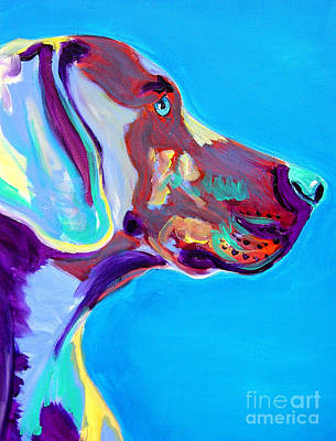 Kid Painting - Weimaraner - Blue by Alicia VanNoy Call