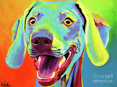 Dawgart Painting - Weimaraner - Taffy by Alicia VanNoy Call