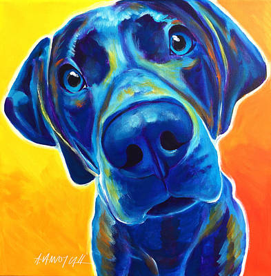 Weimaraner - Bentley Print by Alicia VanNoy Call