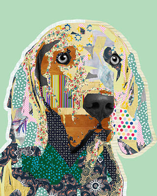 Stripes Mixed Media - Weimaraner Collage by Claudia Schoen