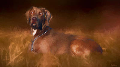 Painting - Weimaraner In The Grass - Painting by Ericamaxine Price