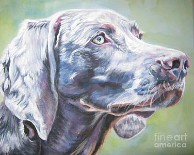 Painting - Weimaraner by Lee Ann Shepard