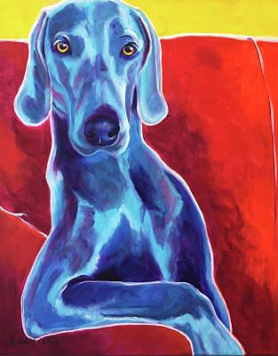 Painting - Weimaraner - Otis by Alicia VanNoy Call