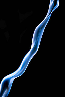 Smoke Photograph - Weird Blue Smoke  by Cj Avery