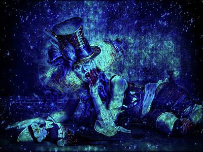 Mixed Media - Weird Clown by Lilia D