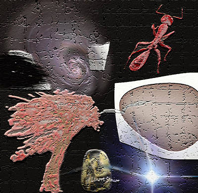 Ant Mixed Media - Weird Dreams by Lenore Senior