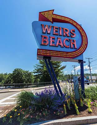 Photograph - Weirs Beach Sign by Brian MacLean