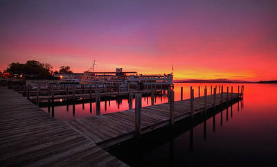 Photograph - Weirs Beach Sunrise by Robert Clifford