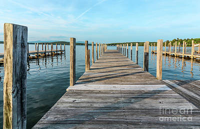 Photograph - Weirs Dock, Weirs Beach, N H by Mim White