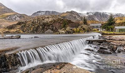 Snow Digital Art - Weirs Rapids Snowdonia by Adrian Evans