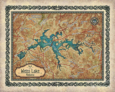 Painting - Weiss_lake _no Cities by Lisa Middleton