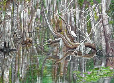 Painting - Wekiva River by Frances  Dillon