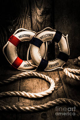 Lifebelt Photograph - Welcome Aboard The Dark Cruise Line by Jorgo Photography - Wall Art Gallery
