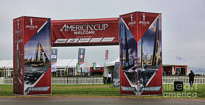 Sausalito Photograph - Welcome America's Cup by Chuck Kuhn