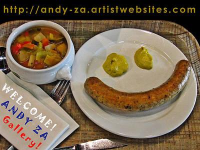 Welcome. Andy Za Gallery. Art Print