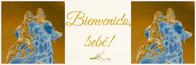 Photograph - Welcome Baby Greeting Card In Spanish by Elyza Rodriguez