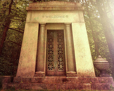 Graveyard Photograph - Welcome by Bob Orsillo