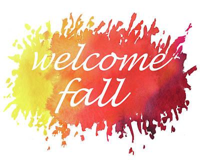 Painting - Welcome Fall Watercolor by Irina Sztukowski