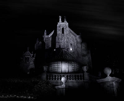Haunted Mansion Photograph - Welcome Foolish Mortals by Mark Andrew Thomas