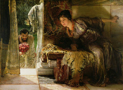 Of Flowers Painting - Welcome Footsteps by Sir Lawrence Alma-Tadema