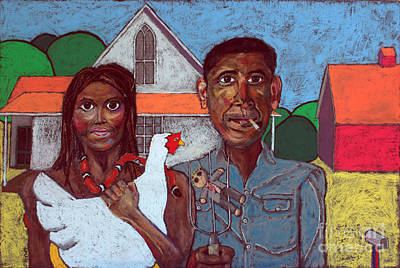 Obama Painting - Welcome Home America by David Hinds