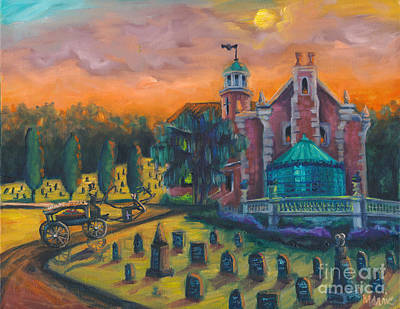 The Haunted Mansion Painting - Welcome Home by Marnie Bourque