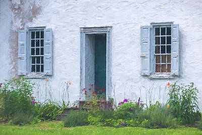 Welcome Home Old Door And Windows Art Print by Terry DeLuco