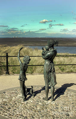 Photograph - Welcome Home Statue By Anita Lafford On The Promenade At Fleetwood - England by Doc Braham