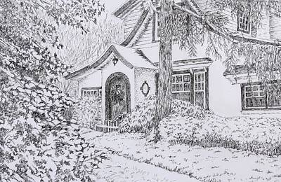 Peaceful Scene Drawing - Welcome by Janice Petrella-Walsh