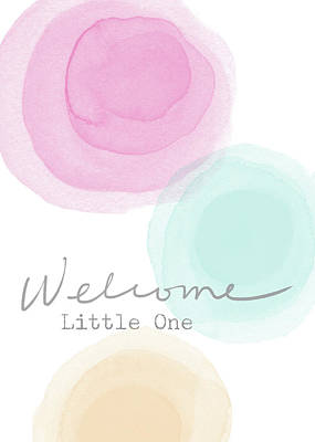 Baby Shower Mixed Media - Welcome Little One- Art By Linda Woods by Linda Woods
