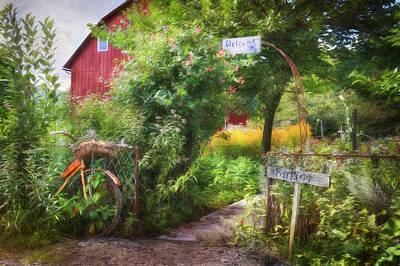 Barn Digital Art - Welcome by Lori Deiter