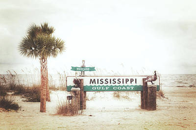 Photograph - Welcome Mississippi Gulf Coast by Sennie Pierson