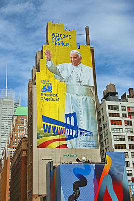 Photograph - Welcome Pope Francis 2 by Allen Beatty