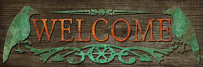 Photograph - Welcome Sign 2 by WB Johnston