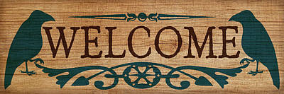 Digital Art - Welcome Sign by WB Johnston