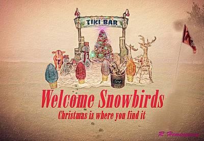Fort Pierce Marina Photograph - Welcome Snowbirds by Richard Hemingway
