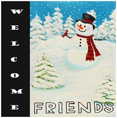 Photograph - Welcome Snowman 2 by Barbara Griffin