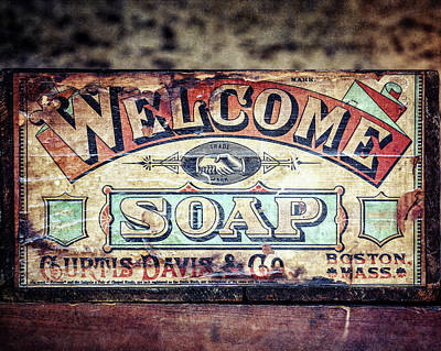Photograph - Welcome Soap In Color by Lisa Russo