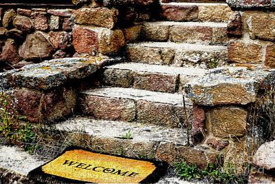 Welcome Steps Art Print by Deborah Nakano
