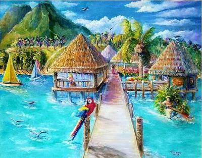 Painting - Welcome Tahiti by Bernadette Krupa