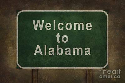 Foreboding Digital Art - Welcome To Alabama Roadside Sign Illustration by Bruce Stanfield