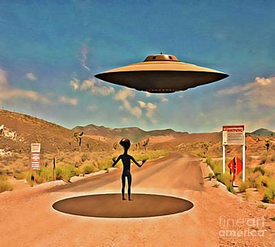 Paranormal Digital Art - Welcome To Area 51 by Raphael Terra