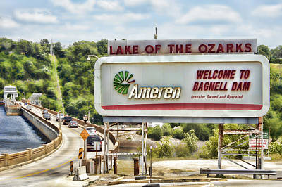 Welcome To Bagnell Dam Art Print