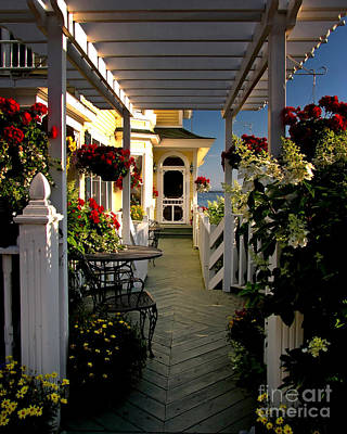 Photograph - Welcome To Bay View Inn On Mackinac Island by Betsy Foster Breen