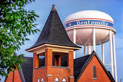 Northwest Photograph - Welcome To Bentonville Arkansas by Gregory Ballos